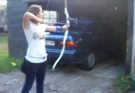 shooting into garage